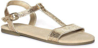 The Children's Place Girls Velcro Strappy Sandals(Grey)