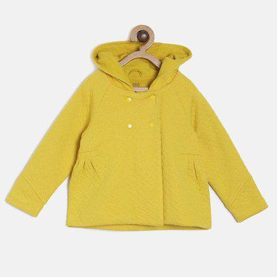 Mini Klub Full Sleeve Self Design Girls Jacket
