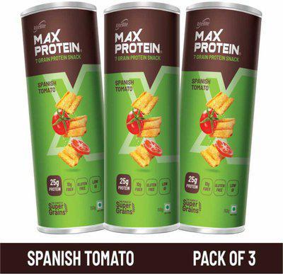 RiteBite Max Protein Chips - Spanish Tomato 150g(Pack of 3) Chips(3 x 150 g)
