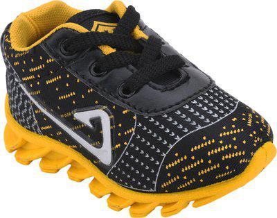 NEOBABY Boys & Girls Lace Walking Shoes(Yellow)