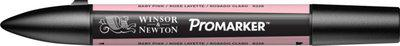 Winsor & Newton ProMarker - Twin Tip; Broad+Chisel - Alcohol Based - Baby Pink(Set of 1, Baby Pink)