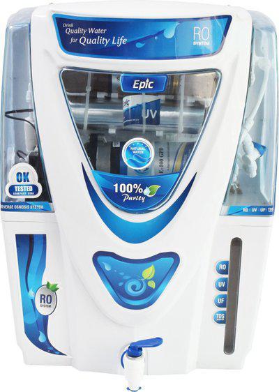 Aqua Epic Model RO+UV+UF+TDS+Copper Filter 12 L RO + UV + UF + TDS Water Purifier(White)