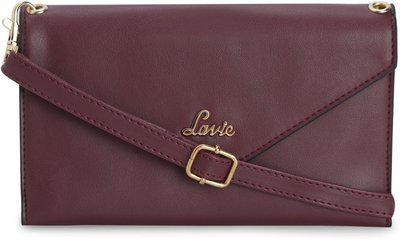 Lavie Women Maroon Solid Two Fold Wallet