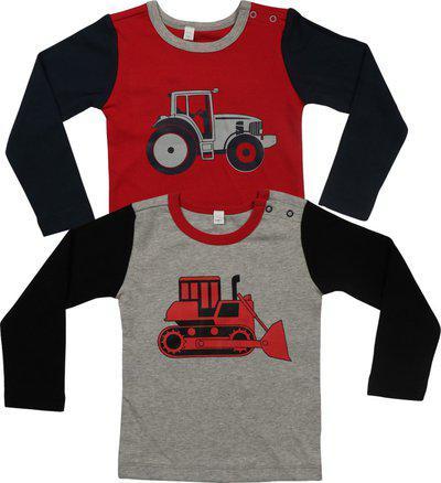 Nino Bambino Boys & Girls Printed Organic Cotton Blend T Shirt(Multicolor, Pack of 2)