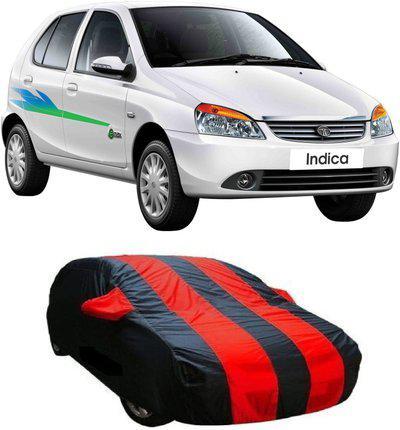 Car Bazaar Car Cover For Tata Indica (With Mirror Pockets)(Blue, Black)