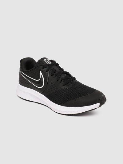 Nike Boys & Girls Lace Running Shoes(Black)