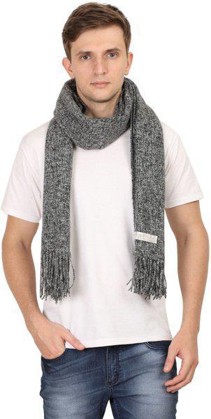 FabSeasons Self Design Wool Blend Men & Women Scarf