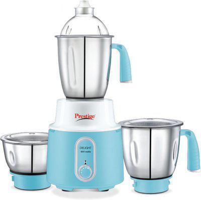 Prestige Delight Mixer Grinder Delight 600 Mixer Grinder(Blue, 3 Jars)