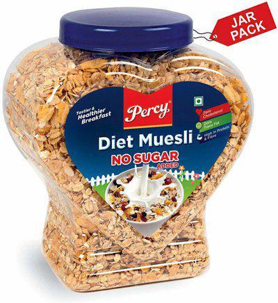 Percy Diet Muesli [No Sugar Added](800 g, Plastic Bottle)