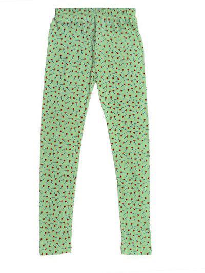 Indistar Legging For Girls(Green Pack of 1)