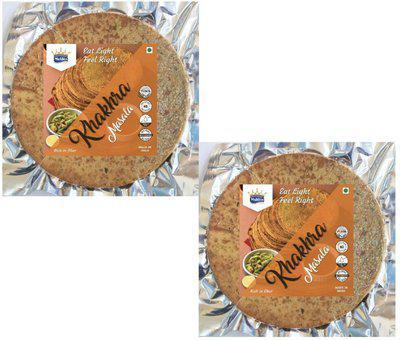 MUKHIA Masala Flavour Tasty Khakra Healthy & Crunchy Snacks(2 x 200 g)