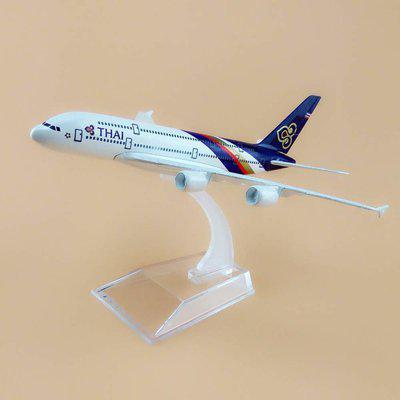 Sage Square 1:300 Thai Airways Boeing 777-300 Scale Highly Detailed Souvenir Metal Model Aircraft Metal Paper Weights  with Silver(Set Of 1, Multicolor)
