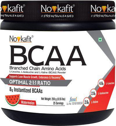 Novkafit BCAA Powder  250 g/.55 lb, 25 Servings BCAA(250 g, Watermelon)