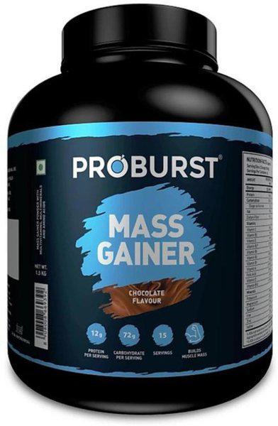 PROBURST Mass Gainer Chocolate Weight Gainers/Mass Gainers(1.5 kg, Chocolate)