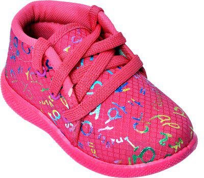 NEOBABY Boys & Girls Lace Casual Boots(Pink)