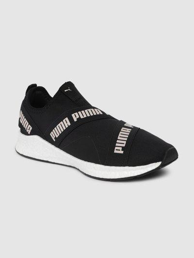 Puma Unisex Black NRGY Star Slip-On Walking Shoes Walking Shoes For Women(Black)