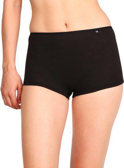 Jockey Women Boy Short Black Panty(Pack of 1)