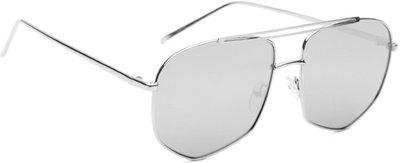 Roadster Over-sized Sunglasses(Silver)