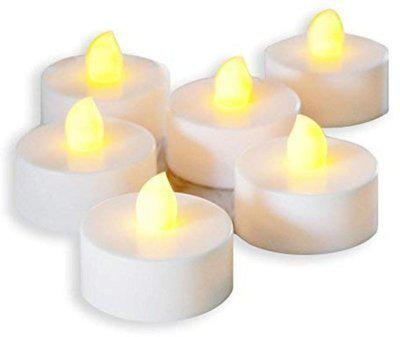 Satyam Kraft 6 pack LED Tea Lights Candles for Home Decoration. Candle(White, Pack of 6)