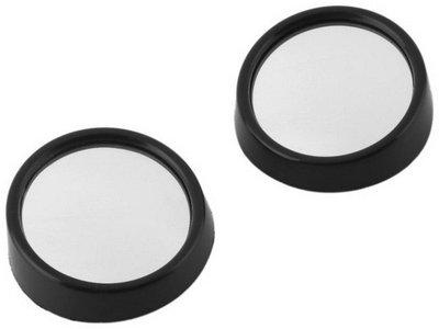 2 MORE Manual Blind Spot Mirror For Hyundai, Maruti Suzuki, Mahindra 800, Thar, Rapid, WagonR(Right, Left, Interior, Center)