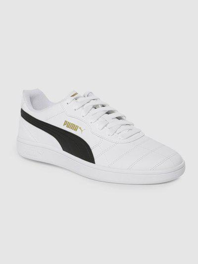 Puma Unisex White Astro Kick Sneakers Sneakers For Men(White)
