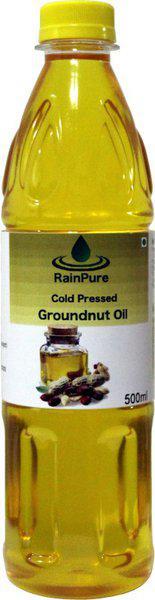 RainPure Cold Pressed Groundnut Oil Groundnut Oil Plastic Bottle(500 ml)