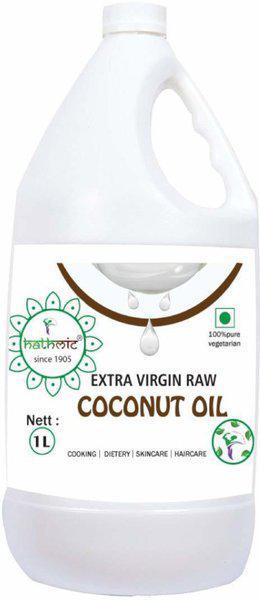 hathmic Cold Pressed Extra Virgin Coconut Oil Jar(1 L)