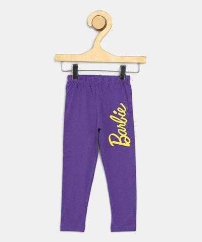 Barbie Legging For Girls(Purple Pack of 1)