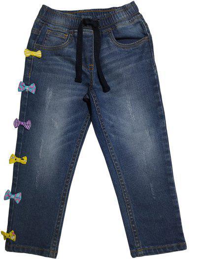 KiddoPanti Regular Girls Blue Jeans