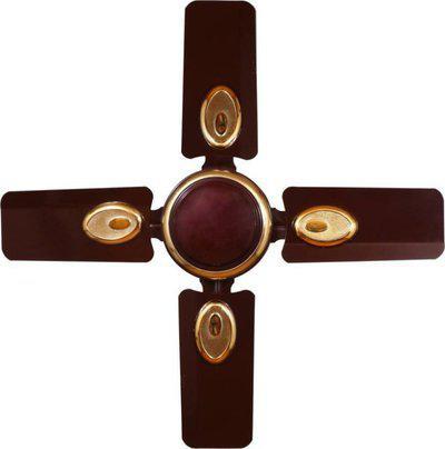 Sameer Jewel 24 inch High speed 600 mm 4 Blade Ceiling Fan(Brown, Pack of 1)