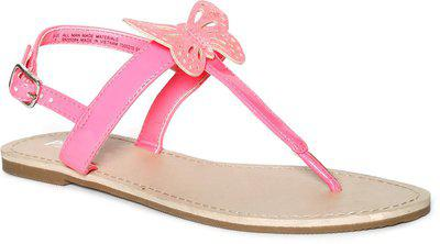 The Children's Place Girls Buckle T-bar Sandals(Pink)