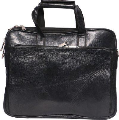 OBANI 15 ltr Brown Leather Laptop messenger bag
