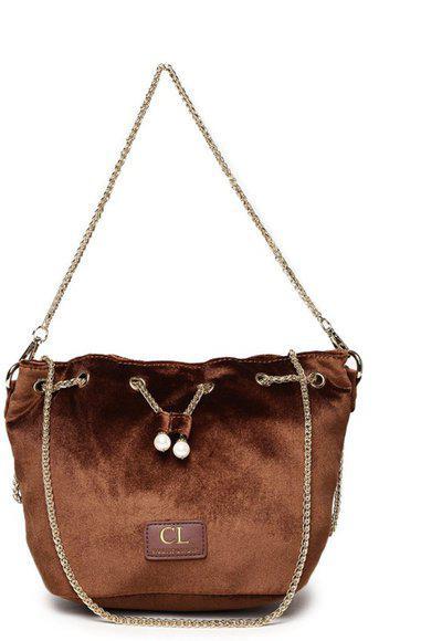 Carlton London Bronze-Toned Solid Shoulder Bag