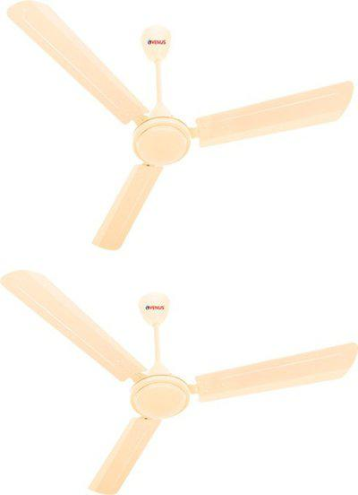 Venus Matrix 1200 mm 3 Blade Ceiling Fan(Beige, Pack of 2)