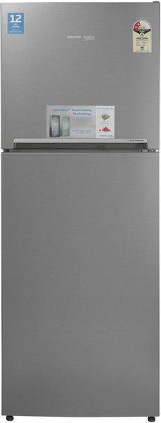 Voltas Beko 340 L Frost Free Double Door Top Mount 2 Star (2020) Refrigerator(Inox, RFF363I)