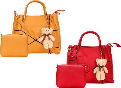 SaleBox Women Tan, Orange Sling Bag(Pack of: 2)