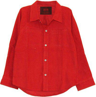 My Little Lambs Baby Boys Solid Casual Red Shirt