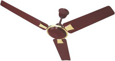 Surya Sleek 1200 mm 3 Blade Ceiling Fan(Gold, Brown)