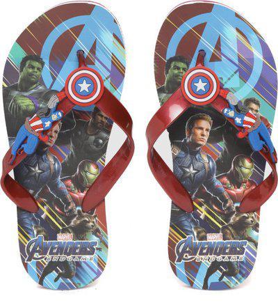 Avengers Boys Slip On Slipper Flip Flop(Maroon)