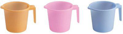 Milton Plastic Bath Mug(Pink, Blue, Orange 1)