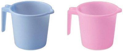 Milton Plastic Bath Mug(Pink, Blue 1)