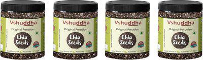 Vshuddha Chia Seeds(2 kg, Pack of 4)