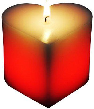 Toygully Heart Shaped Candle(Red, Pack of 1)