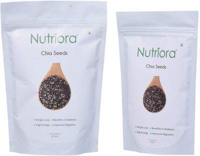 Nutriora Chia Seeds(600 g, Pack of 2)