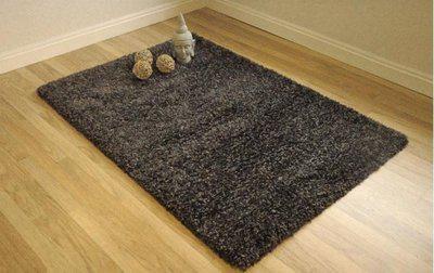 Presto Black Polyester Carpet(180 cm  X 270 cm)