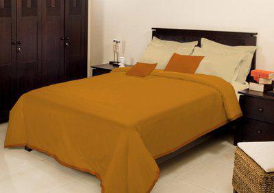Bombay Dyeing Plain Single Coral Blanket(Microfiber, Yellow)