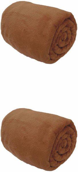 Saksham Plain Single Fleece Blanket(Microfiber, Brown)