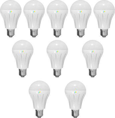 Finike 5 W Standard E27 LED Bulb(Yellow, Pack of 10)