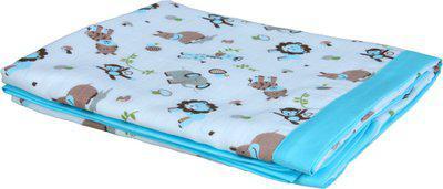 My Milestones Animal Single Swadding Baby Blanket(Microfiber, Blue)