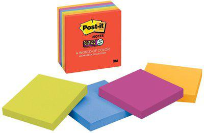 Post-It 0 Compartments Paper Sticky-Notes(Multicolor)